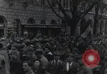 Image of Gabriele D'Annunzio welcomed as he enters Fiume Fiume Croatia, 1919, second 39 stock footage video 65675023056