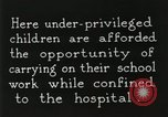 Image of Henry Ford Convalescent School United States USA, 1936, second 15 stock footage video 65675023073