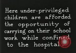 Image of Henry Ford Convalescent School United States USA, 1936, second 26 stock footage video 65675023073