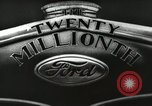 Image of Ford promotional on occasion of 20 millionth automobile Detroit Michigan USA, 1931, second 18 stock footage video 65675023075