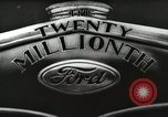 Image of Ford promotional on occasion of 20 millionth automobile Detroit Michigan USA, 1931, second 19 stock footage video 65675023075