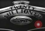 Image of Ford promotional on occasion of 20 millionth automobile Detroit Michigan USA, 1931, second 21 stock footage video 65675023075