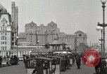 Image of Hotels and boardwalk Atlantic City New Jersey USA, 1917, second 9 stock footage video 65675023084