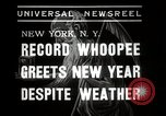 Image of New Year celebrations New York City USA, 1938, second 7 stock footage video 65675023165