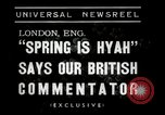 Image of Spring time London England United Kingdom, 1938, second 8 stock footage video 65675023175