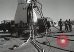 Image of Preparing Redstone Missile for launch New Mexico United States USA, 1960, second 25 stock footage video 65675023465