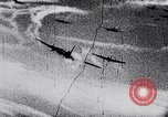 Image of German fighter aircraft shooting down US bombers Europe, 1944, second 43 stock footage video 65675028708