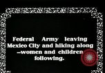 Image of Mexican Federal Army troops departing Mexico City along railroad Mexico City Mexico, 1914, second 2 stock footage video 65675029259