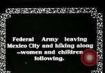 Image of Mexican Federal Army troops departing Mexico City along railroad Mexico City Mexico, 1914, second 3 stock footage video 65675029259