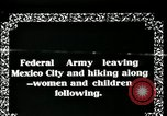 Image of Mexican Federal Army troops departing Mexico City along railroad Mexico City Mexico, 1914, second 5 stock footage video 65675029259