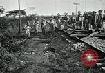 Image of Mexican Federal Army troops departing Mexico City along railroad Mexico City Mexico, 1914, second 16 stock footage video 65675029259
