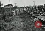 Image of Mexican Federal Army troops departing Mexico City along railroad Mexico City Mexico, 1914, second 17 stock footage video 65675029259
