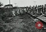 Image of Mexican Federal Army troops departing Mexico City along railroad Mexico City Mexico, 1914, second 18 stock footage video 65675029259