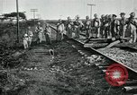Image of Mexican Federal Army troops departing Mexico City along railroad Mexico City Mexico, 1914, second 20 stock footage video 65675029259