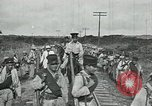 Image of Mexican Federal Army troops departing Mexico City along railroad Mexico City Mexico, 1914, second 23 stock footage video 65675029259