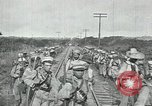 Image of Mexican Federal Army troops departing Mexico City along railroad Mexico City Mexico, 1914, second 31 stock footage video 65675029259