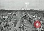 Image of Mexican Federal Army troops departing Mexico City along railroad Mexico City Mexico, 1914, second 36 stock footage video 65675029259