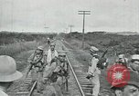 Image of Mexican Federal Army troops departing Mexico City along railroad Mexico City Mexico, 1914, second 37 stock footage video 65675029259