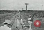 Image of Mexican Federal Army troops departing Mexico City along railroad Mexico City Mexico, 1914, second 40 stock footage video 65675029259