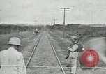 Image of Mexican Federal Army troops departing Mexico City along railroad Mexico City Mexico, 1914, second 41 stock footage video 65675029259