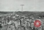 Image of Mexican Federal Army troops departing Mexico City along railroad Mexico City Mexico, 1914, second 46 stock footage video 65675029259