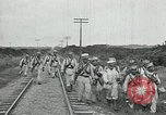 Image of Mexican Federal Army troops departing Mexico City along railroad Mexico City Mexico, 1914, second 52 stock footage video 65675029259