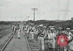 Image of Mexican Federal Army troops departing Mexico City along railroad Mexico City Mexico, 1914, second 53 stock footage video 65675029259