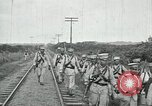 Image of Mexican Federal Army troops departing Mexico City along railroad Mexico City Mexico, 1914, second 54 stock footage video 65675029259