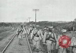 Image of Mexican Federal Army troops departing Mexico City along railroad Mexico City Mexico, 1914, second 55 stock footage video 65675029259
