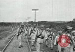 Image of Mexican Federal Army troops departing Mexico City along railroad Mexico City Mexico, 1914, second 56 stock footage video 65675029259