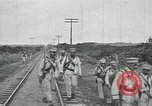 Image of Mexican Federal Army troops departing Mexico City along railroad Mexico City Mexico, 1914, second 57 stock footage video 65675029259