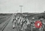 Image of Mexican Federal Army troops departing Mexico City along railroad Mexico City Mexico, 1914, second 58 stock footage video 65675029259