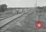 Image of Mexican Federal Army troops departing Mexico City along railroad Mexico City Mexico, 1914, second 59 stock footage video 65675029259