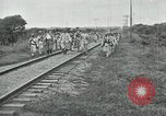 Image of Mexican Federal Army troops departing Mexico City along railroad Mexico City Mexico, 1914, second 62 stock footage video 65675029259