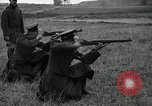 Image of Visiting Latin American military officers firing Garand rifles Fort Riley Kansas USA, 1942, second 28 stock footage video 65675030497