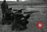 Image of Visiting Latin American military officers firing Garand rifles Fort Riley Kansas USA, 1942, second 29 stock footage video 65675030497