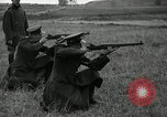 Image of Visiting Latin American military officers firing Garand rifles Fort Riley Kansas USA, 1942, second 30 stock footage video 65675030497