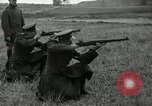 Image of Visiting Latin American military officers firing Garand rifles Fort Riley Kansas USA, 1942, second 33 stock footage video 65675030497