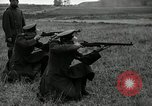 Image of Visiting Latin American military officers firing Garand rifles Fort Riley Kansas USA, 1942, second 36 stock footage video 65675030497
