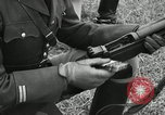 Image of Visiting Latin American military officers firing Garand rifles Fort Riley Kansas USA, 1942, second 41 stock footage video 65675030497