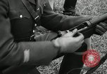Image of Visiting Latin American military officers firing Garand rifles Fort Riley Kansas USA, 1942, second 52 stock footage video 65675030497