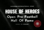 Image of Pro Football Hall of Fame Canton Ohio USA, 1963, second 3 stock footage video 65675030506