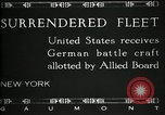 Image of Surrendered German ships towed by US Navy after World War 1 New York United States USA, 1920, second 6 stock footage video 65675030510