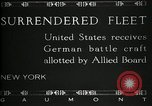 Image of Surrendered German ships towed by US Navy after World War 1 New York United States USA, 1920, second 8 stock footage video 65675030510