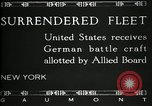 Image of Surrendered German ships towed by US Navy after World War 1 New York United States USA, 1920, second 10 stock footage video 65675030510