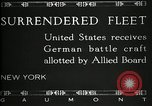 Image of Surrendered German ships towed by US Navy after World War 1 New York United States USA, 1920, second 13 stock footage video 65675030510