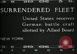 Image of Surrendered German ships towed by US Navy after World War 1 New York United States USA, 1920, second 14 stock footage video 65675030510