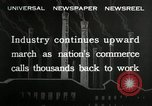Image of jobs at factories in America during Great Depression United States USA, 1932, second 6 stock footage video 65675030527