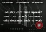 Image of jobs at factories in America during Great Depression United States USA, 1932, second 8 stock footage video 65675030527
