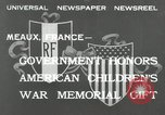 Image of U.S. World War I memorial monument presented to France Meaux France, 1932, second 3 stock footage video 65675030530